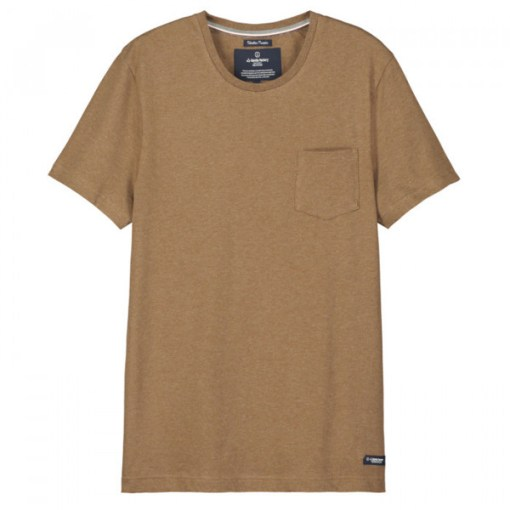 t shirt bio made in france camel