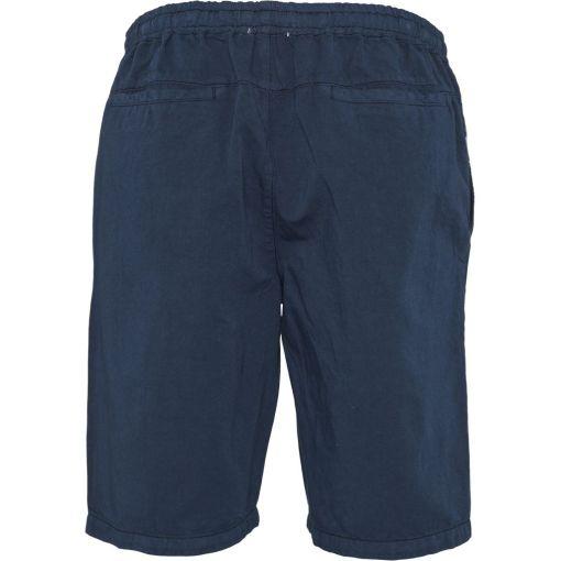 short homme bleu marine lin et coton bio
