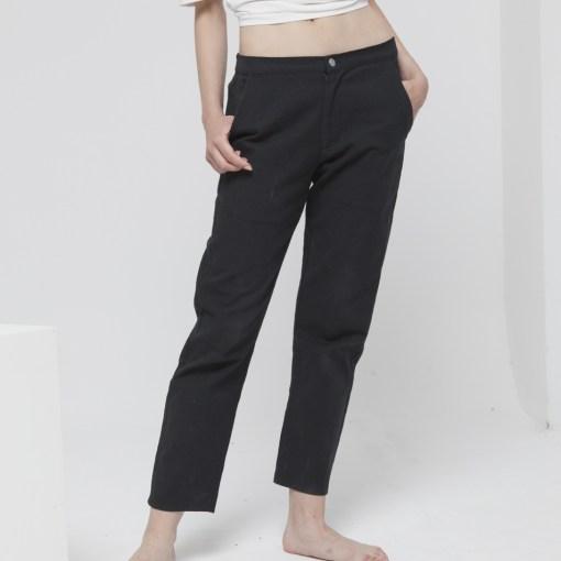 pantalon coton bio femme noir thinking mu