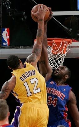 Pistons Lakers Basketball