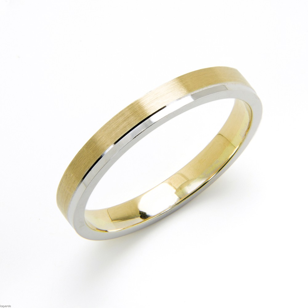Wedding ring bicolor gold manufactured in our workshops
