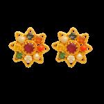 Fancy Earrings with Multicolour Stone