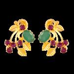 Emerald & Ruby Earrings