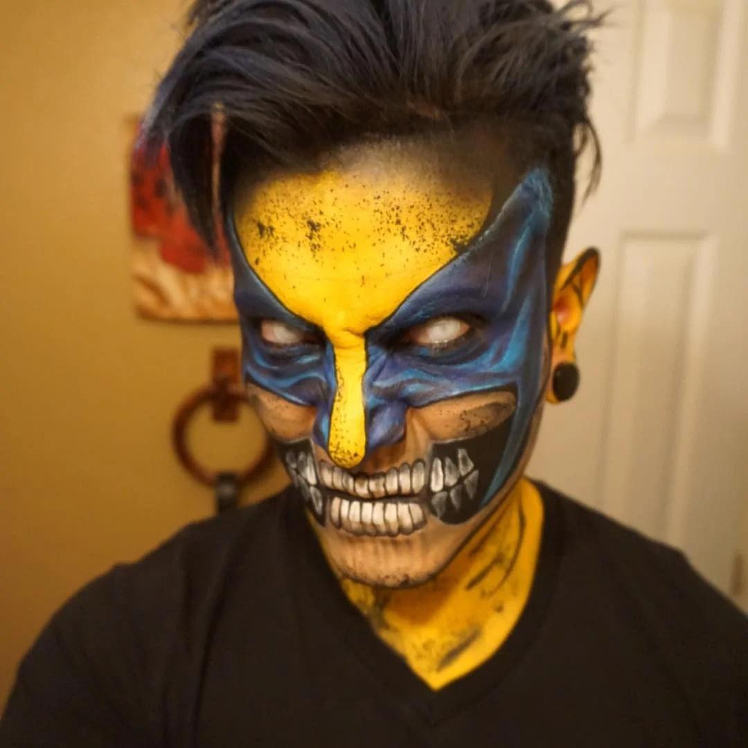 Artista se transforma con maquillaje en Super Hroes