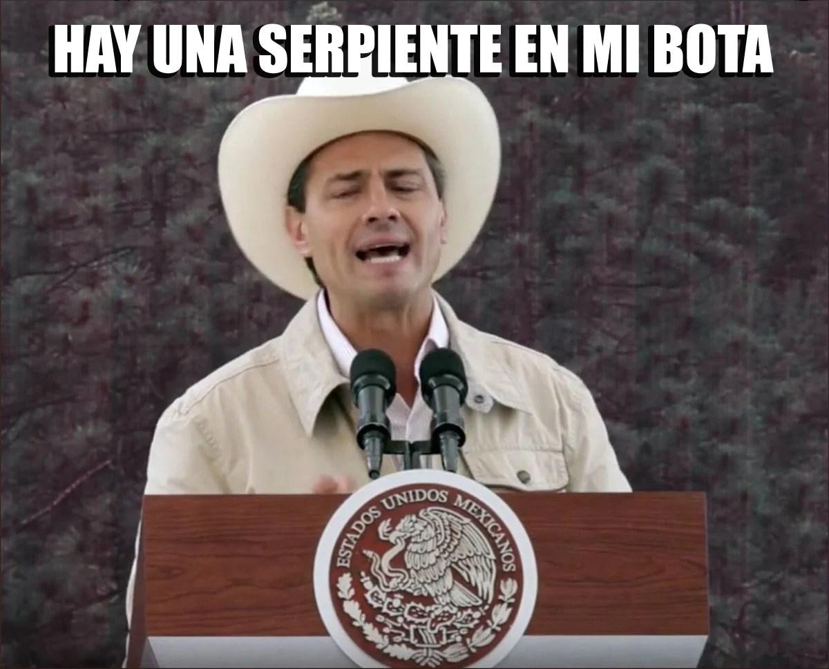 Pea Nieto se puso un sombrero y le llovieron los memes