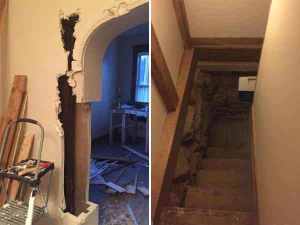 Cosas siniestras en casas viejas puertas
