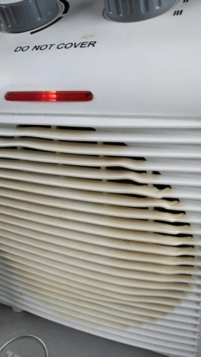 objetos mal diseñados calor