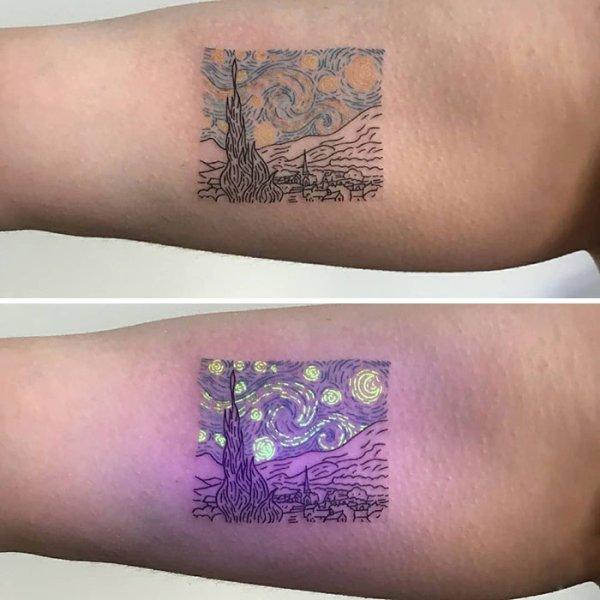 15 Tatuajes Echos Con Tinta Ultravioleta Que Te Sorprenderán