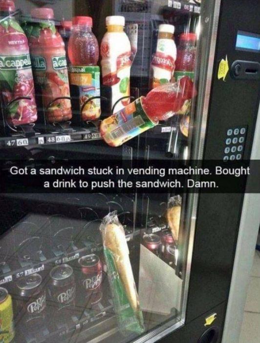 Mal día máquina vendedora