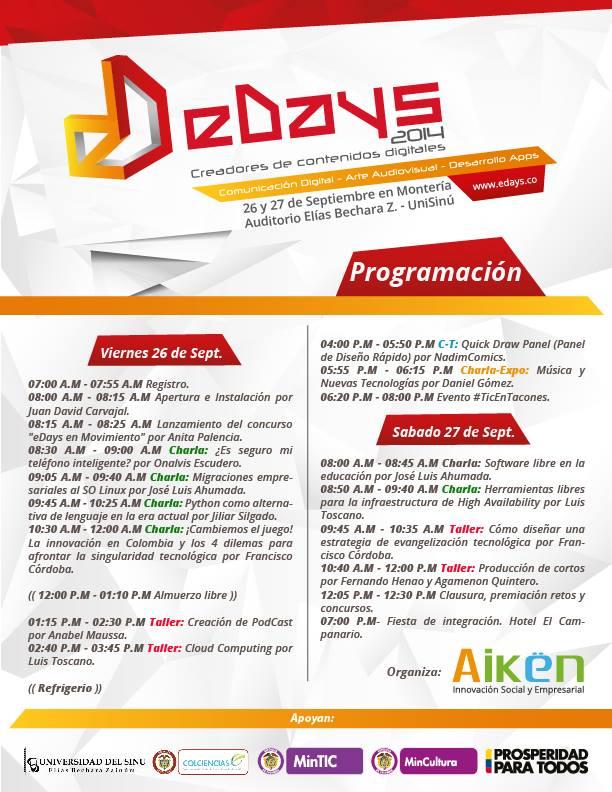 programación edays 2014