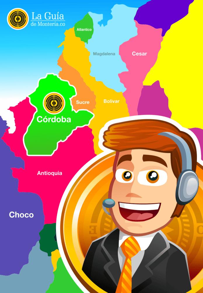 mapa de Córdoba - la guía de montería