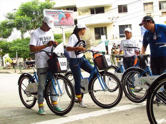 en bicicleta por monteria
