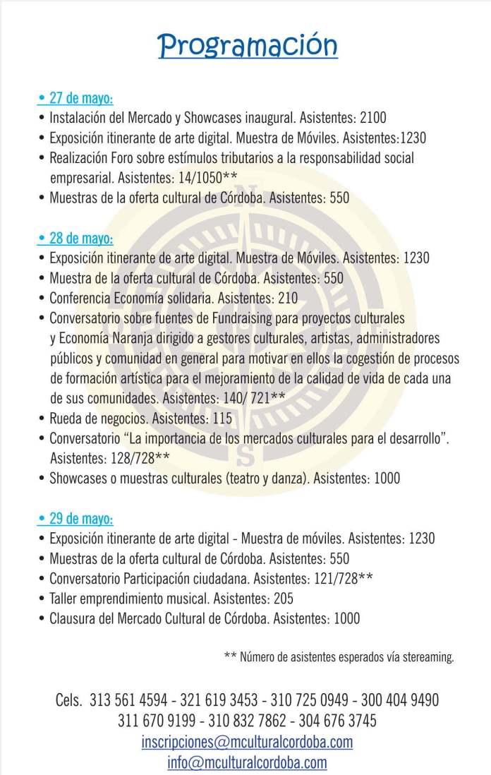 programacion-monteria-cordoba-artesanias-colombia