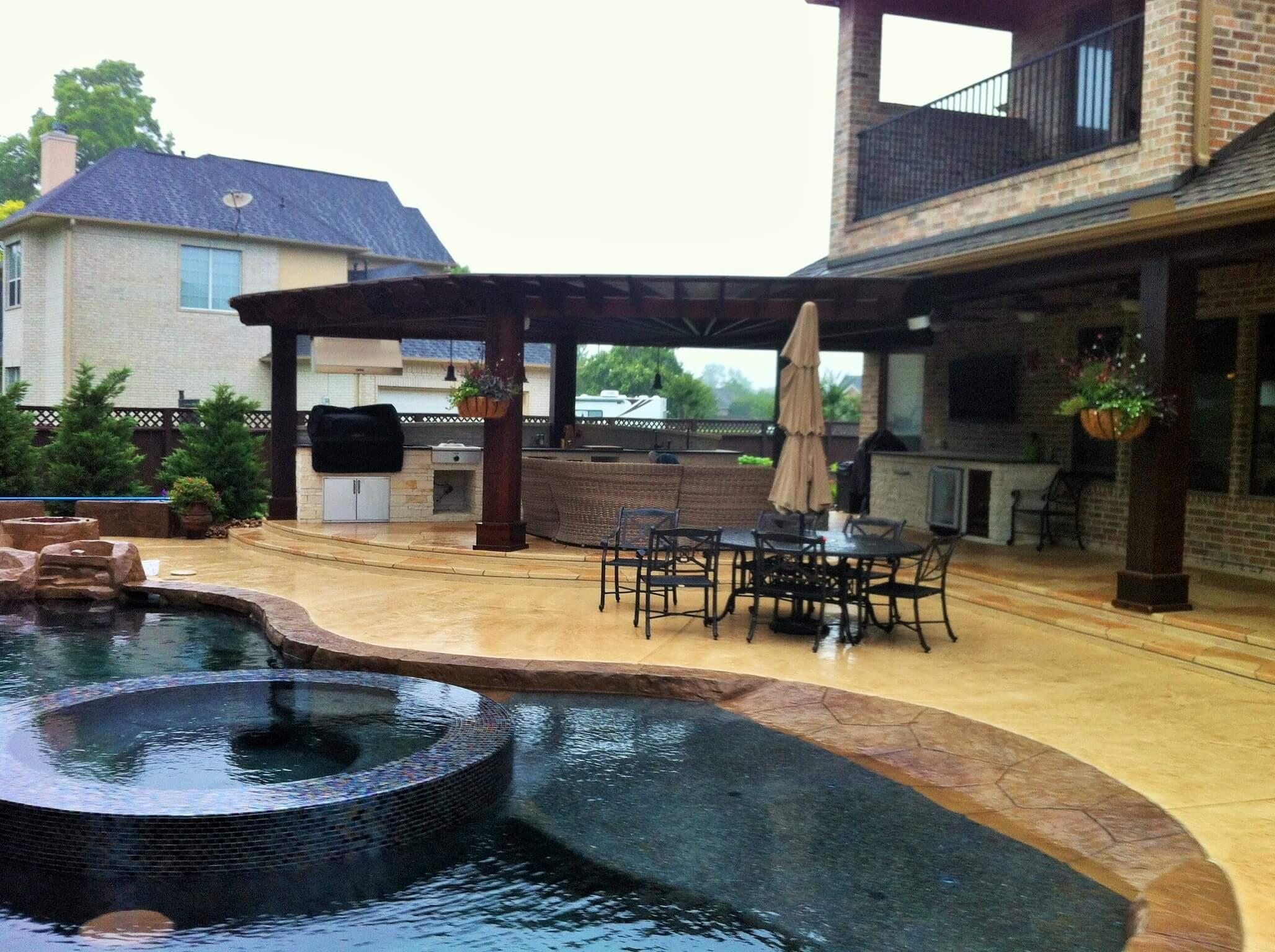 katy pool design houston pool builder