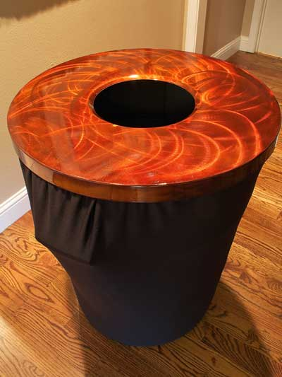 Aluminum Copper and Silver Table Toppers