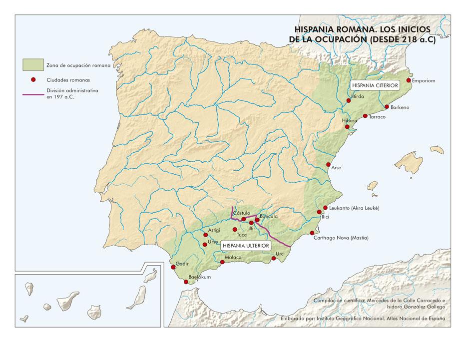España. Hispania romana. Los inicios de la ocupación (desde 21