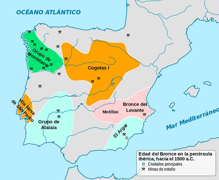 Grupos culturales peninsulares de la Edad del Bronce