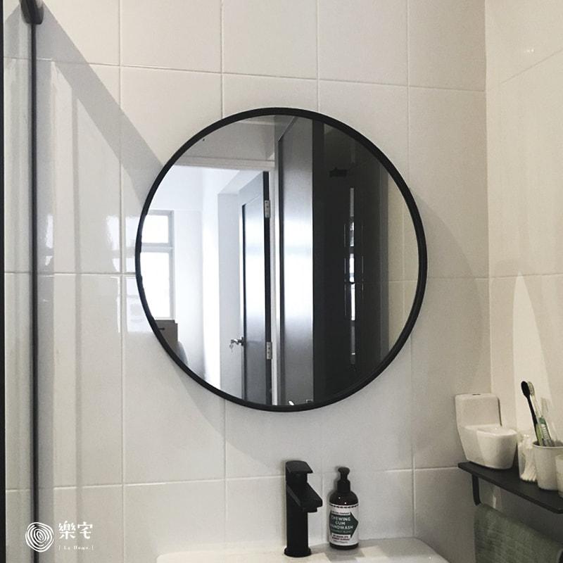 特選質感霧黑框圓鏡直徑