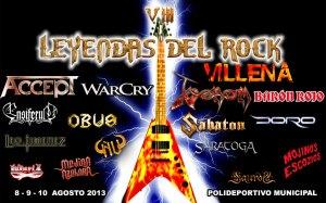 Cartel Leyendas del Rock 2013