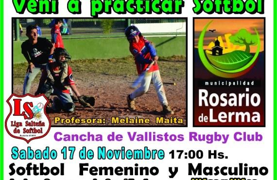 Softbol para niños y niñas en Rosario de Lerma