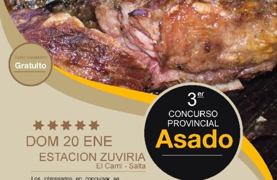Este domingo en El Carril 3er Concurso Provincial del Asado