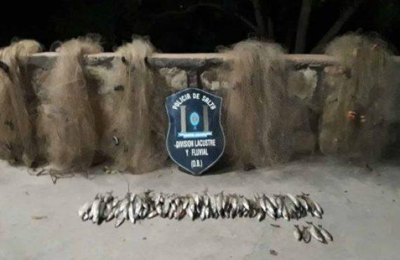 Incautan ejemplares de pejerrey producto de la pesca furtiva en el dique Cabra Corral