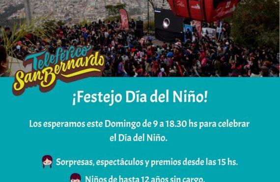 El Teleférico San Bernardo y El Tren a las Nubes se suman a los festejos del Día del Niño