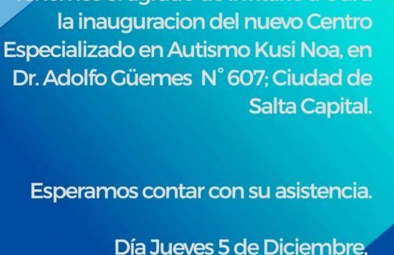 Inauguración nuevo Centro Especializado en Autismo Kusi Noa