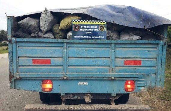 Secuestran 2.200 kilos de carbón vegetal que eran transportadas en una camioneta