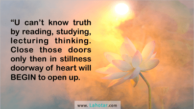 U can't know truth...