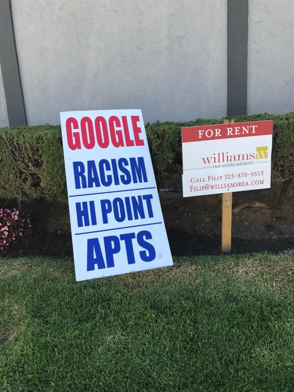 2017-5-6 Racism for rent sign 1522
