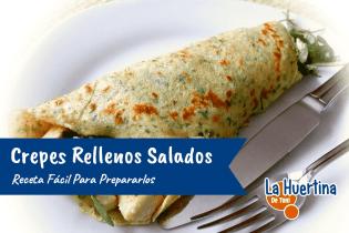 Receta para preparar Crepes Rellenos Salados