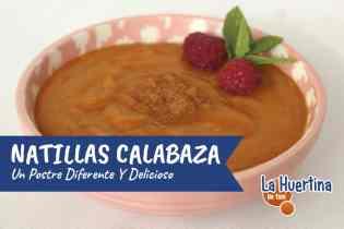 Natillas de Calabaza, un postre irresistible