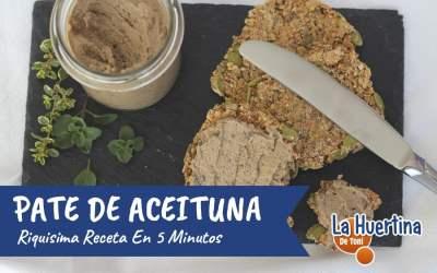 Paté de Aceitunas Negras en cinco minutos