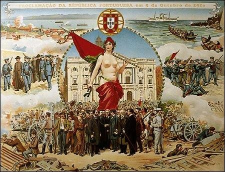 Portugal pasa a República em 1910. Comemoramos cem anos em 2010