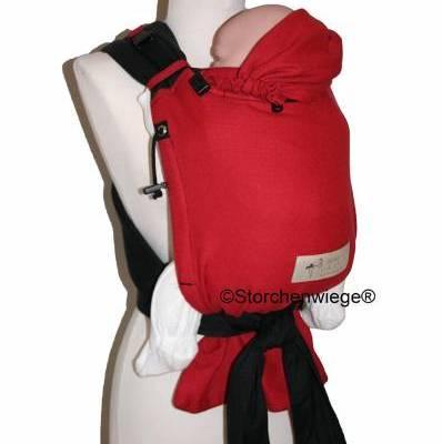 Storchenwiege babycarrier rood