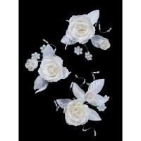 Ivory Wedding Bridal Flower Hair Clips