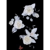 Ivory Wedding Bridal Flower Hair Clips- One of the range ...