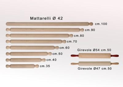 Mattarelli in legno