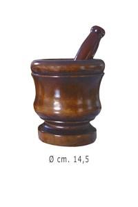 mortaio in legno - 14,5 cm
