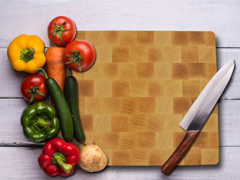 Professional wood cutting boards