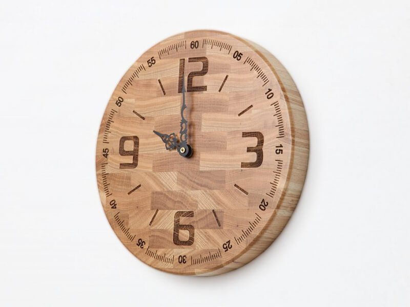 Wooden watch with chronograph - wooden wall clocks