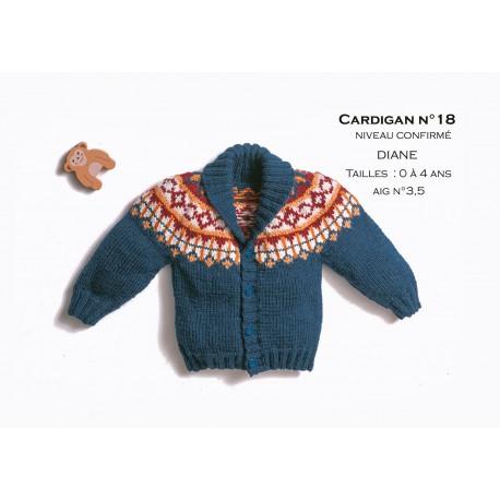 modele cardigan cb41 18 patron tricot