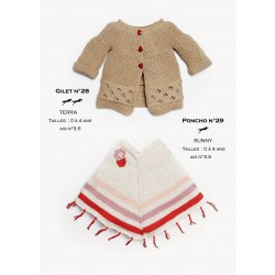 Knitting Patterns Cardigan Baby Wear Cheval Blanc Laines