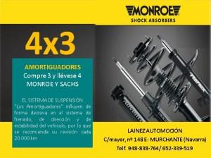 4X3 AMORTIGUADORES