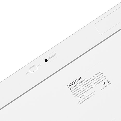 Bluetooth Teclado Español OMOTON Ultra-delgado Mini Para