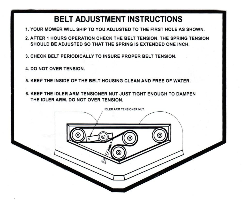 medium resolution of 60 sli deck belt diagram
