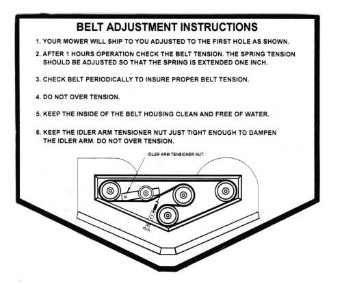 small resolution of 60 sli deck belt diagram