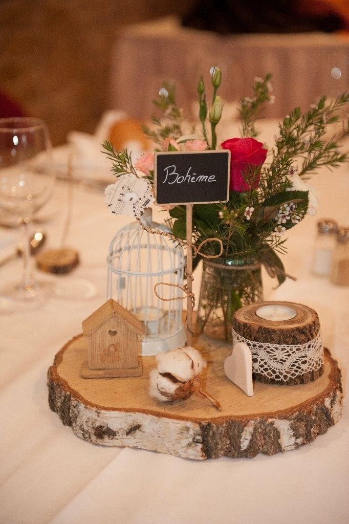 Un centre de table pour notre mariage bohme par Mvince