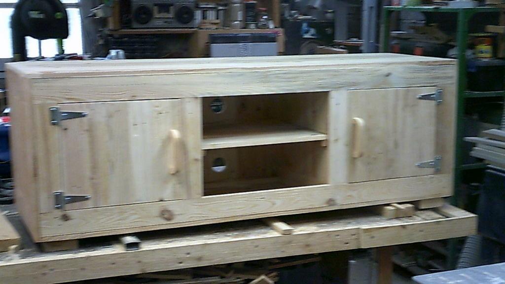 meuble tv en bois de palette par